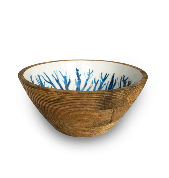 Small Blue and White Salad Bowls
