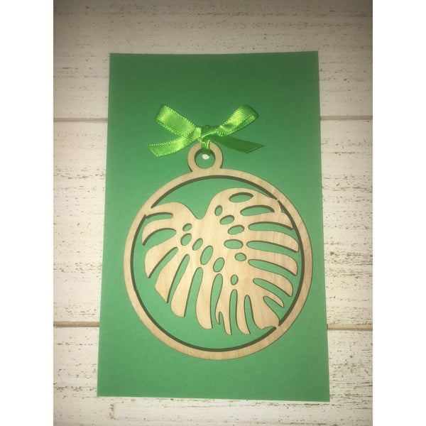 Monstera Leaf Ornament