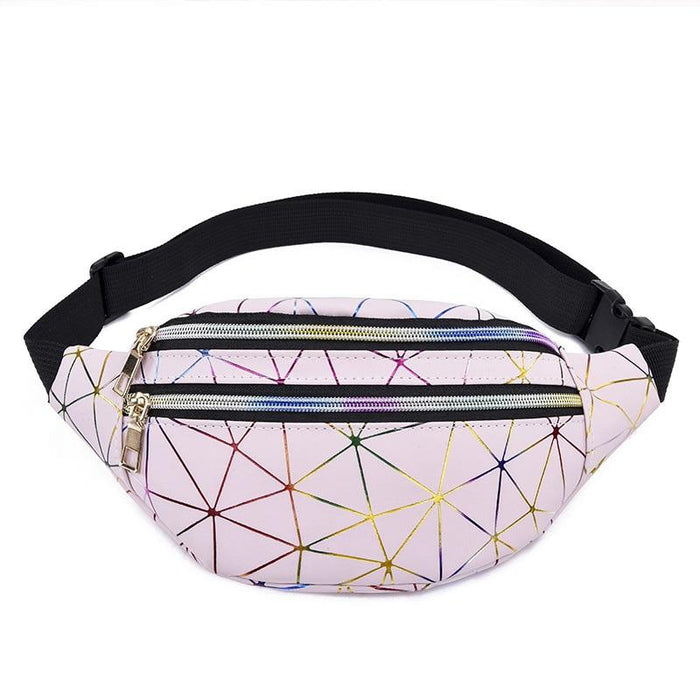 Holographic and Geometric Belt Bag-Boots N Bags Heaven