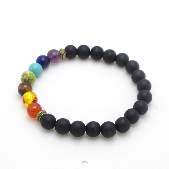 Peace and Balance Mixed Chakra Bracelet-Boots N Bags Heaven