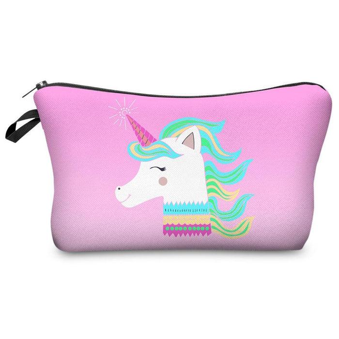 Full-Print Cosmetic Pouch Bag Unicorn Collection-Boots N Bags Heaven