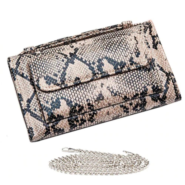 Faux Snake Skin Leather Party Mini Clutch Bag-Boots N Bags Heaven