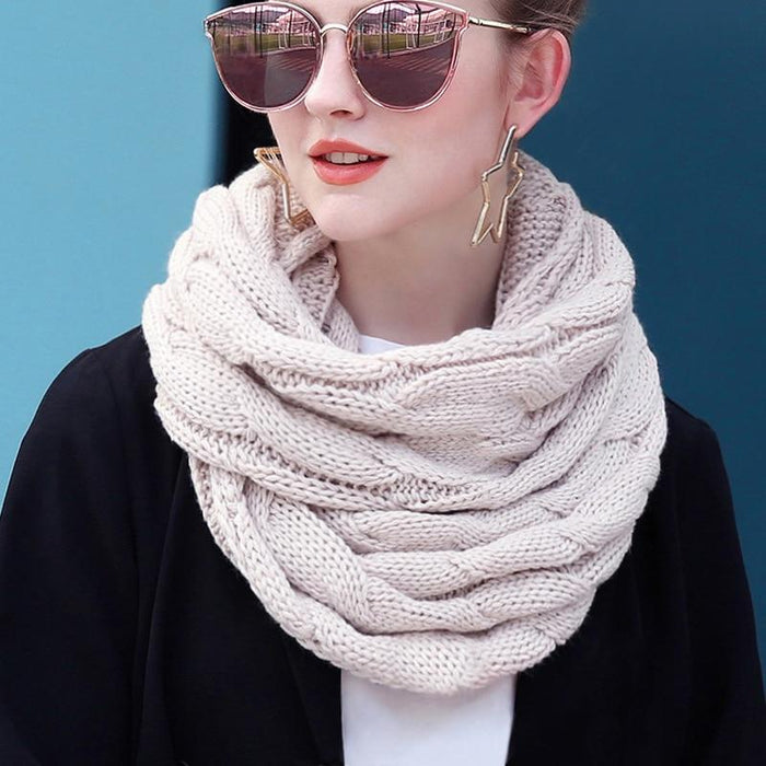 Knitted Infinity Scarf-Boots N Bags Heaven