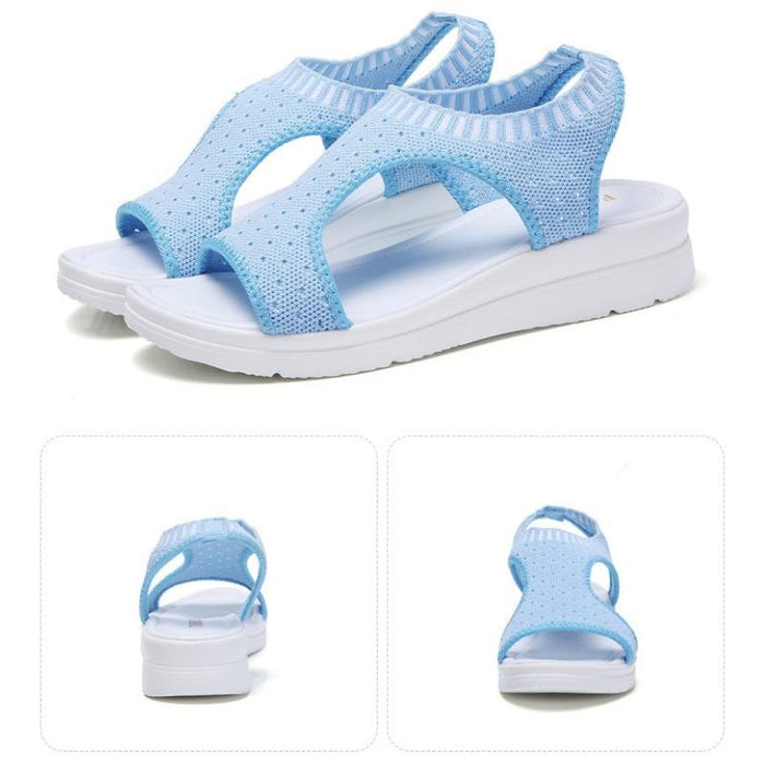 Breathable Platform Slip-On Sandals-Boots N Bags Heaven