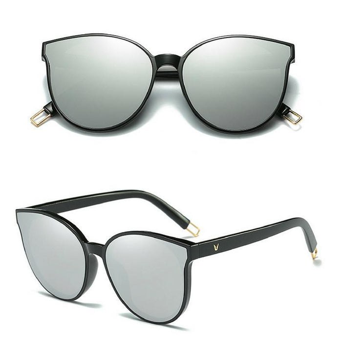 Flat Top Cat Eye Sunglasses-Boots N Bags Heaven