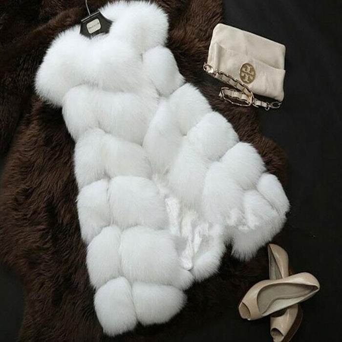 Winter Faux Fur Vest Jacket-Boots N Bags Heaven