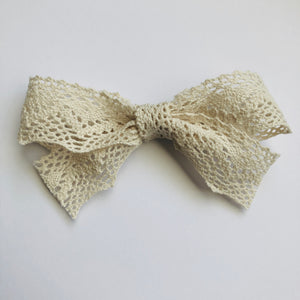 Jennifer Crochet Bow | Beige | RTS