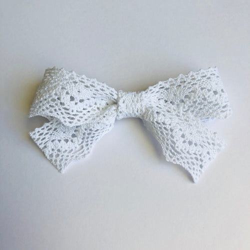 Jennifer Crochet Bow | White | RTS