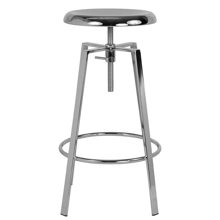 Toledo Industrial Style Barstool with Swivel Lift Adjustable Height Seat-Bar Stool-Flash Furniture-Wall2Wall Furnishings