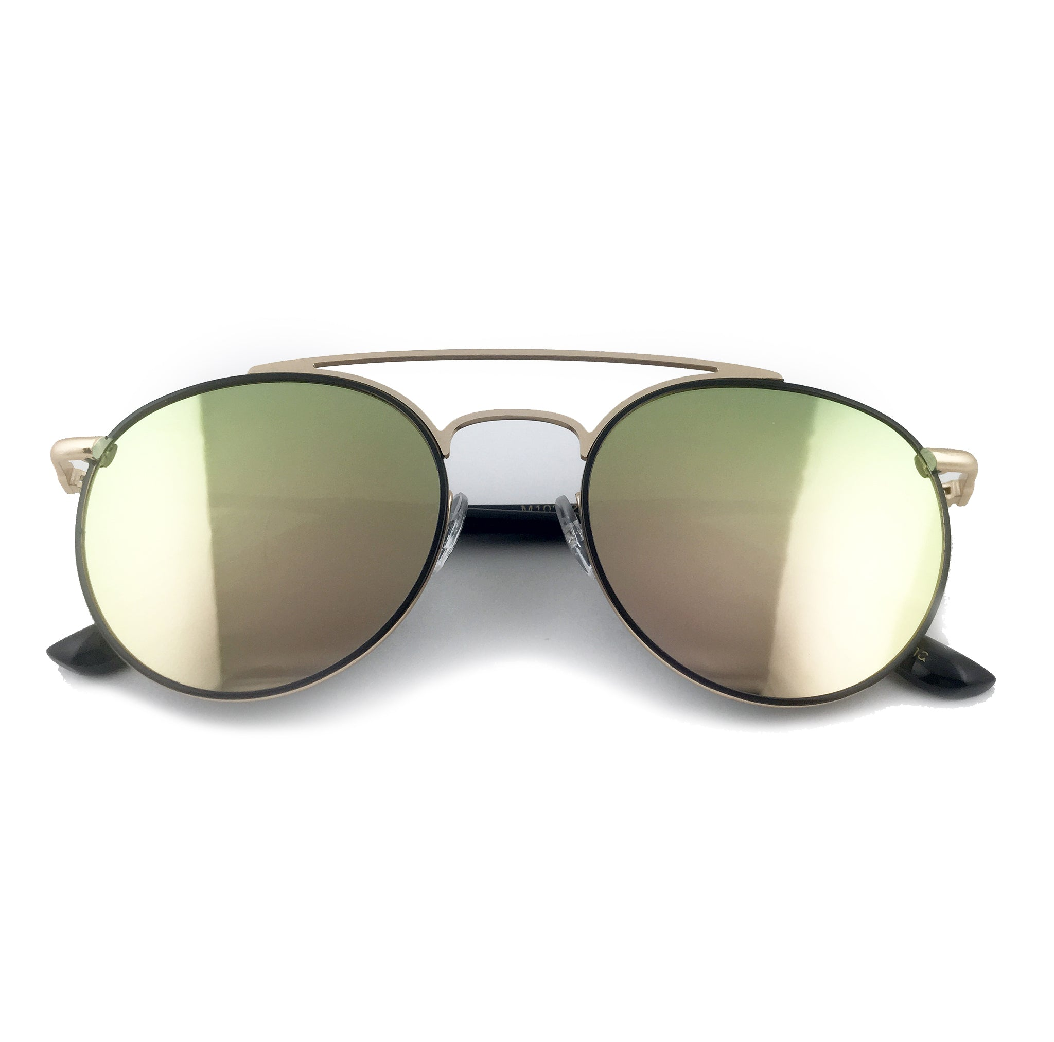 Green tinted round sunglasses with gold frame | The Perfect Gentleman