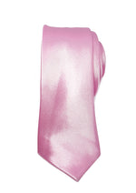 mens pink skinny tie with triangle end | The Perfect Gentleman