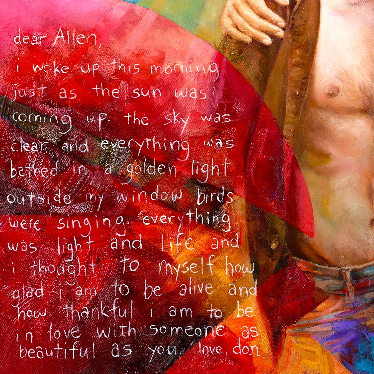 Dear Allen painting - Paul Richmond Studio