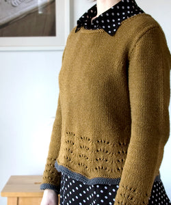 Maple Ripple Pullover-Downloadable knitting pattern-Tricksy Knitter