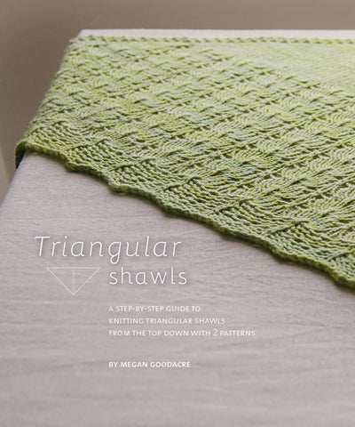 Triangular Shawls: Step by step guide with 2 patterns-Downloadable knitting pattern-Tricksy Knitter
