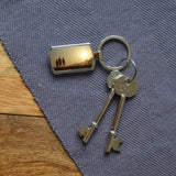 Personalised Rectangular Metal Photo Keyring