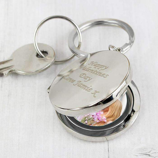 Personalised Round Photo Keyring,