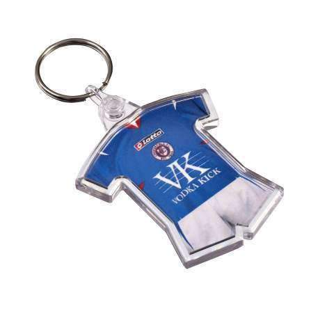 Personalised Sports T-Shirt Shape Plastic Photo Keyring,