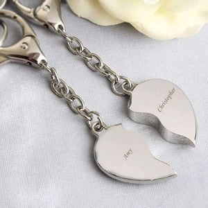 Personalised Two Hearts Keyring,