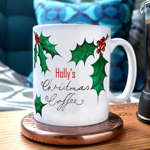 A personalised Christmas hot chocolate mug