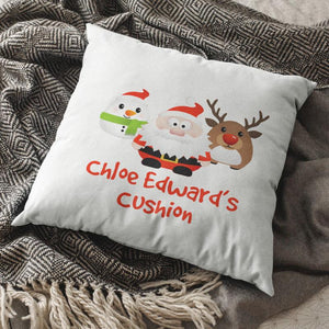 Personalised Christmas Character Cushion