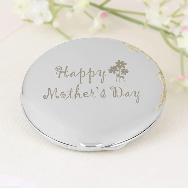 Happy Mothers Day Round Compact Mirror