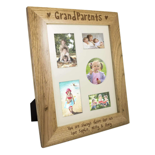 Personalised 8x10 Grandparents Wooden Photo Frame