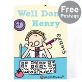 Personalised Bang on the Door Boys Exams Card