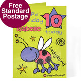 Personalised Bang On The Door Ladybird Age Card