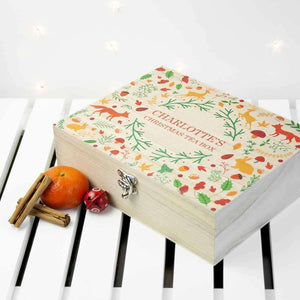 Personalised Festive Woodland Christmas Tea Box