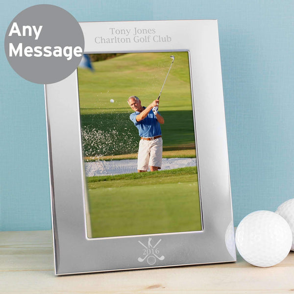 Personalised Silver Golf 6x4 Photo Frame