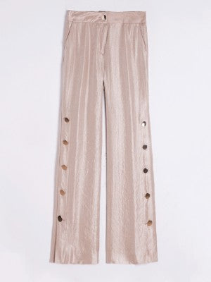 Natalia side button detail trousers
