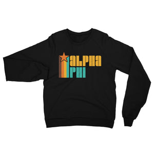 Retro Alpha Phi California Fleece Raglan Sweatshirt