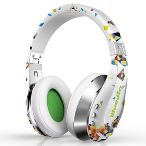 Bluedio A (Air) Fashionable Wireless Bluetooth Headphones with Microphone 3D Surround Sound headset White
