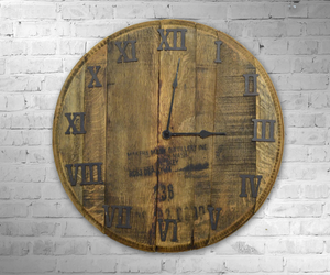 Bourbon Barrel Wall Clock