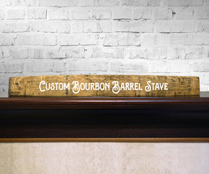Custom Handpainted Bourbon Barrel Stave