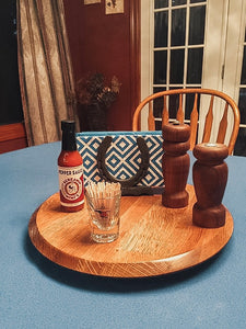"15"" Bourbon Barrel Lazy Susan"