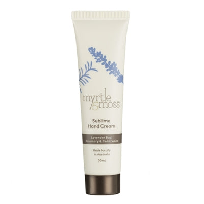 Myrtle and Moss Mini Sublime Hand Cream 30mL - The Artisan Storeroom