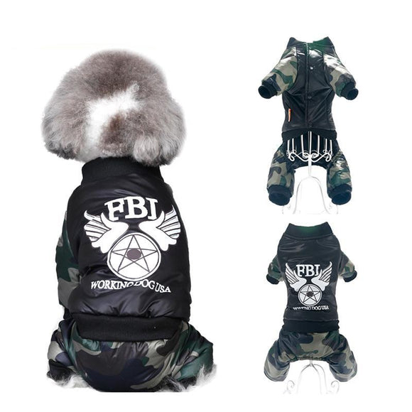 PETPETROL 2018 Pet Dog Cat FBI Camouflage Uniform Clothes Warm Comfortable Pet Supplies