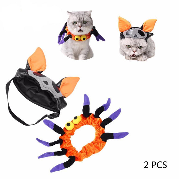 PETPETROL 2018 Funny Bat Shape Hat+Spider-Man style Pet Cat/Dog Costumes Cosplay Pet Clothing