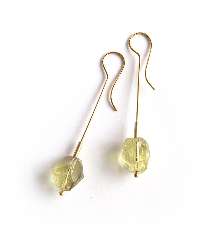 Citrine Stick Earrings