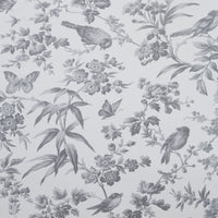 Oasis 'Amelia' Designer Floral Bedding Duvet Set | Grey & Off White