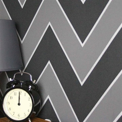 SALE Zig Zag Geometric Wallpaper | Black & Grey  2 ROLLS FOR £27.50