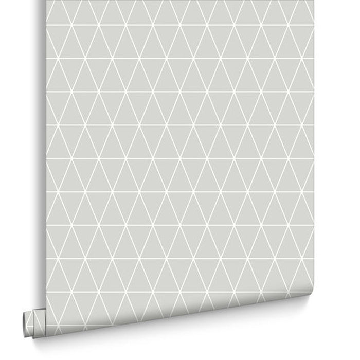SALE Triangolin Geometric Wallpaper | Grey & White