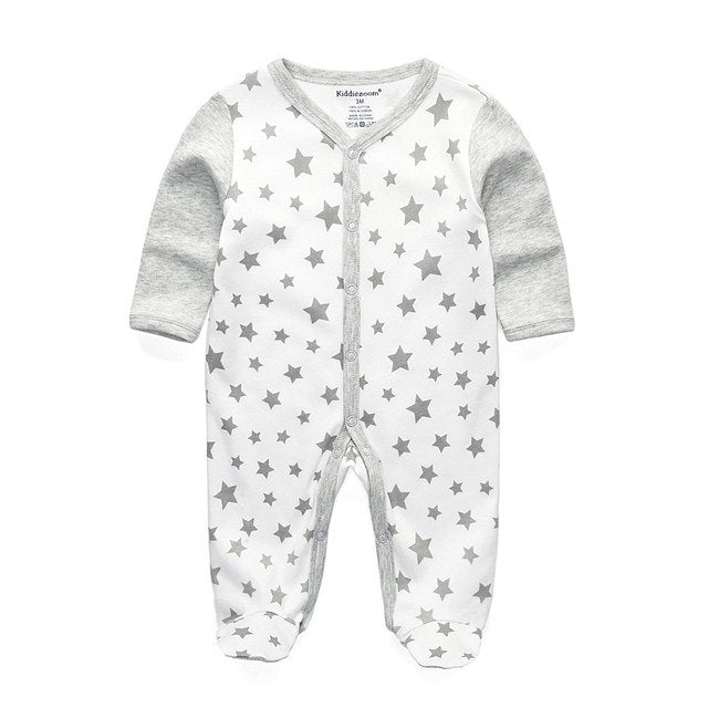 Pajamas baby rompers newborn baby clothes long sleeve underwear cotton