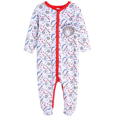 Toddler romper cotton bunny long-sleeve Jumpsuits Baby Pajamas