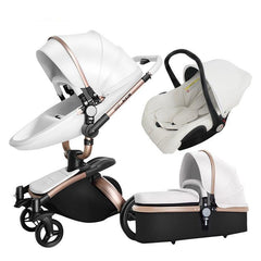 Stroller 3 In 1 With Separate Carrycot Black Frame 360 Degree Rotation Carriage High-landscape
