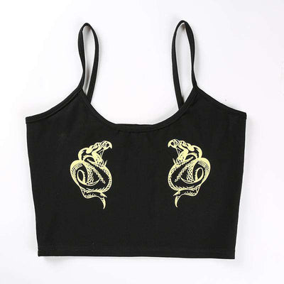 Flexi Black Snake Tank Top