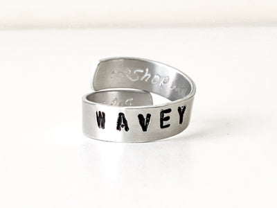 Wavey Handcrafted Aluminum Ring