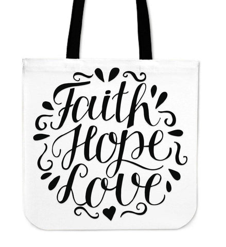 Faith Hope Love Premium Totes