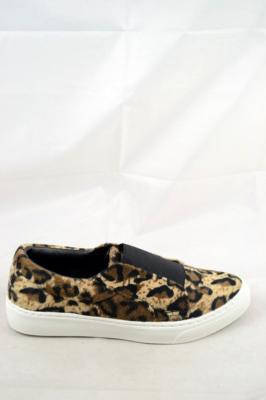 Leopard Print Hide Slip-on Slider